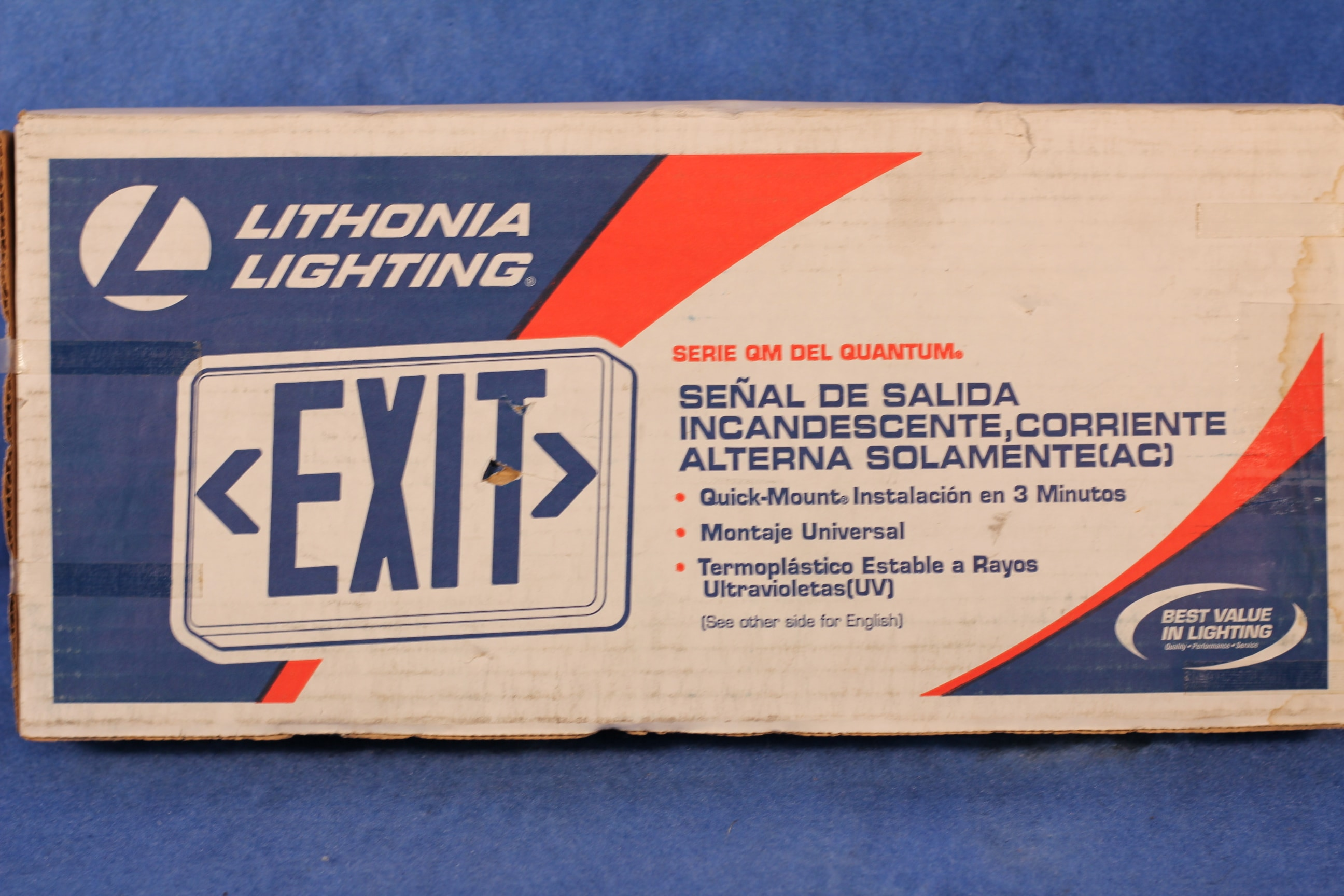 Details About Lithonia Lighting Qm S W 3 R 120 Incandescent Ac Only Exit Sign 1 Year Warranty