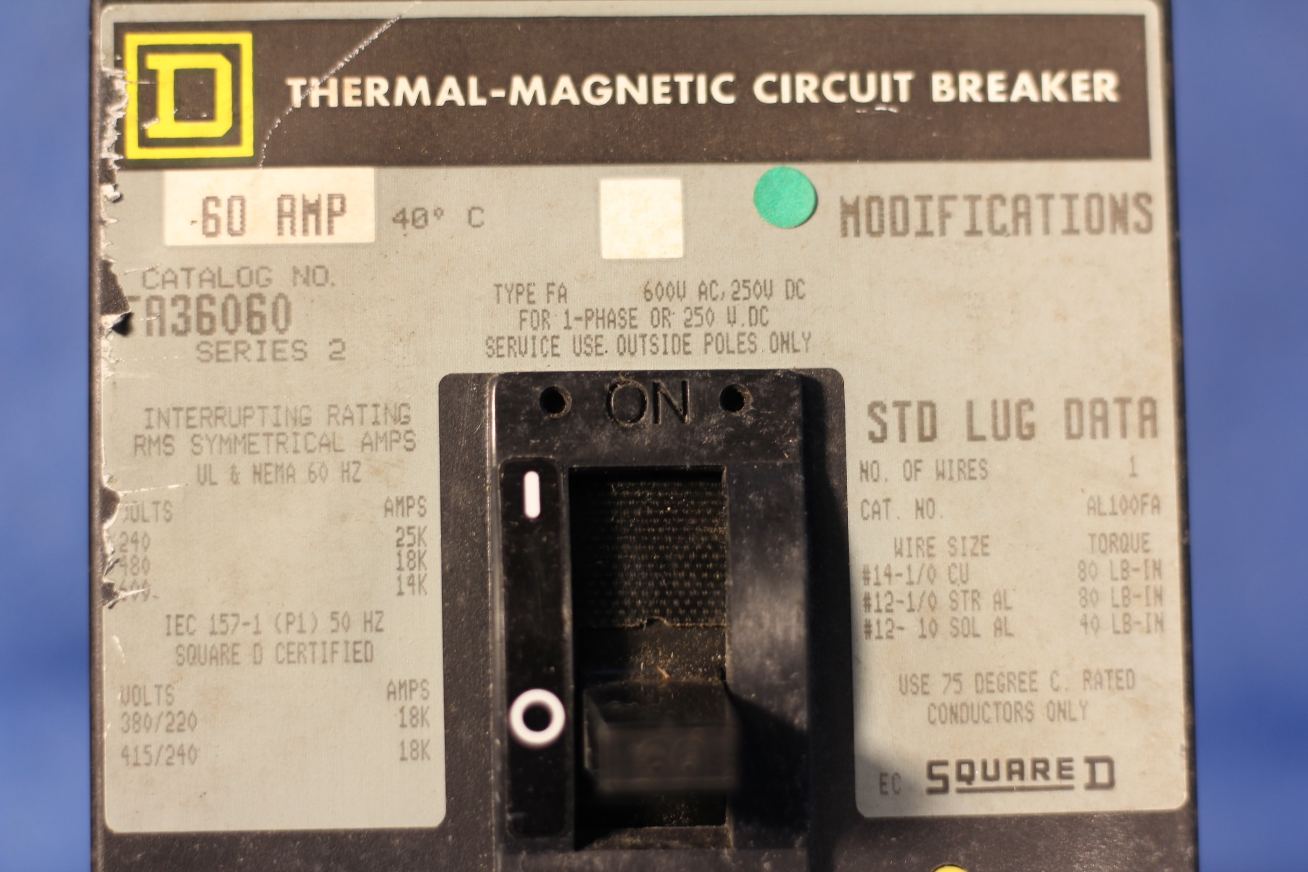 Cutler Hammer 70A 3 Poles EHD3070 6638C90G93 Circuit Breaker 1 Year Warranty