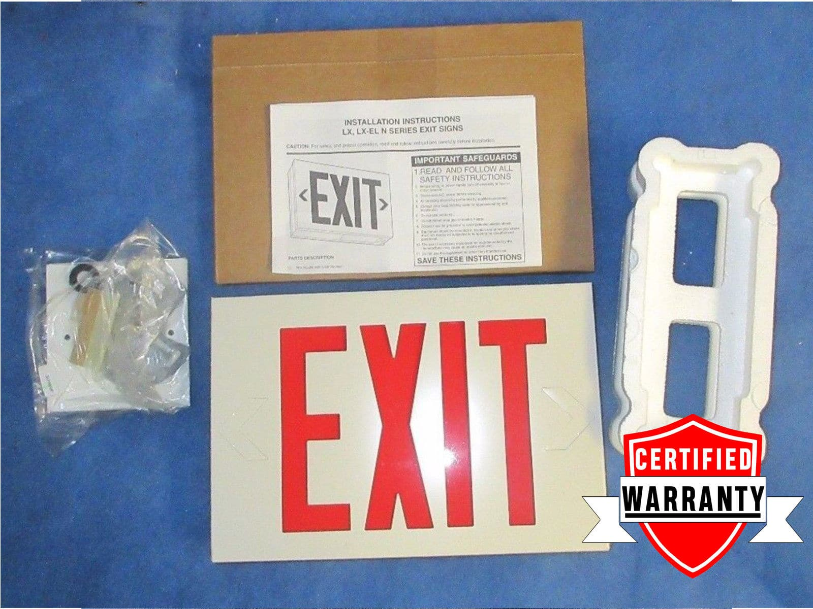 Nib Lithonia Lighting 120 277v Emergency Led Exit Sign Lx S W 3 R 2 Yr Warranty