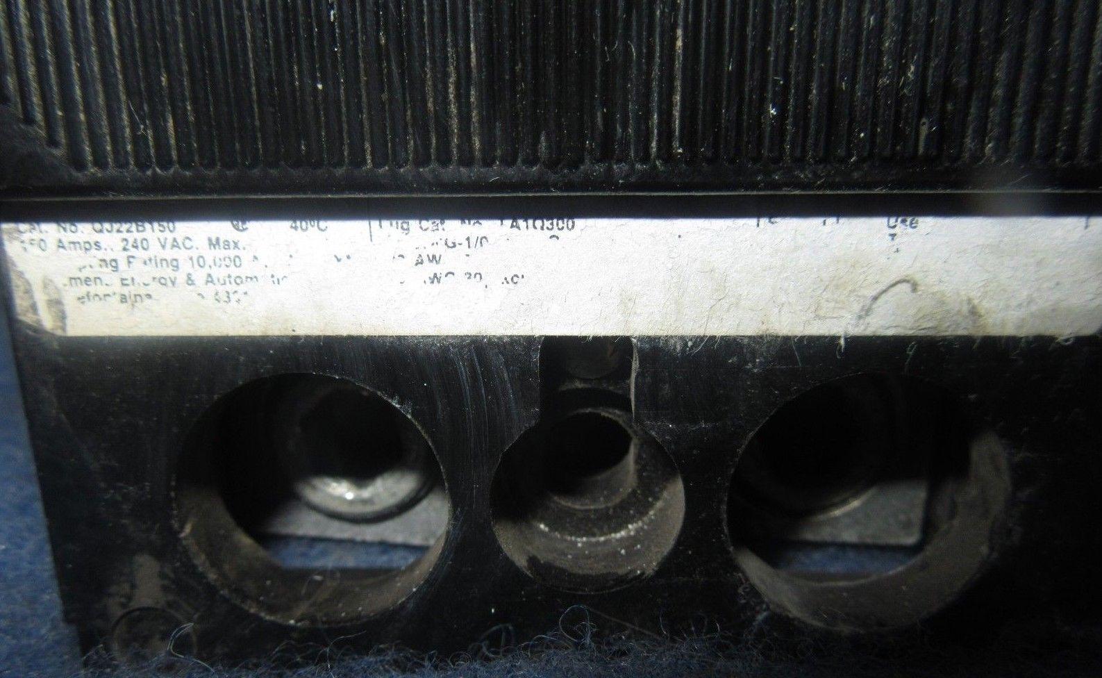 150 AMP 2 POLE 240 VOLT Circuit Breaker WARRANTY ITE//Siemens QJ22B150