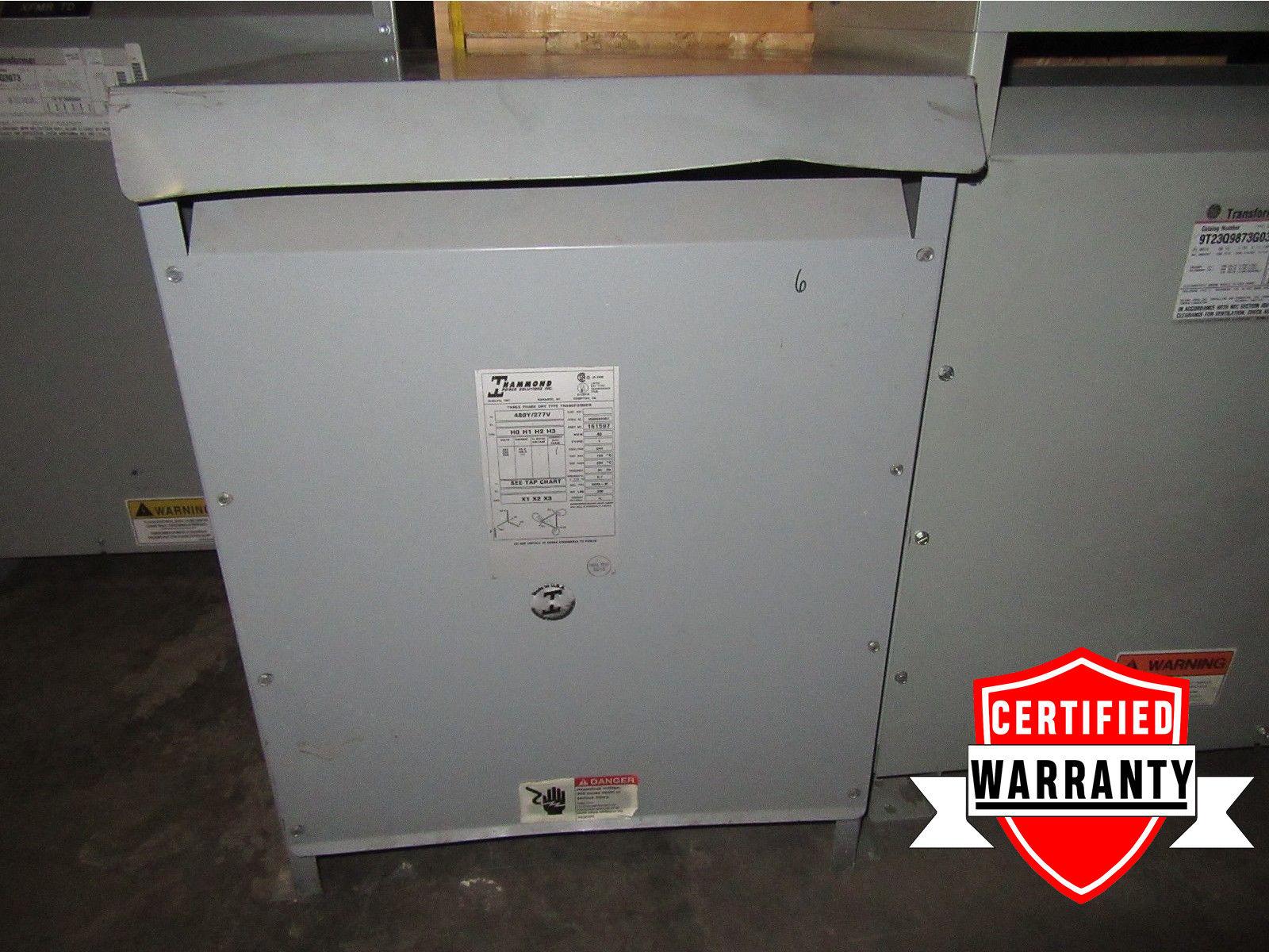 3R HAMMOND 40 KVA transformer 161597 480Y/277VAC 2 year warranty on