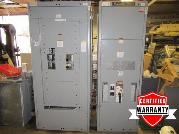 GE SPECTRA ANPB 480Y/277VAC 1200 amp main Breaker box Panel board 2 on