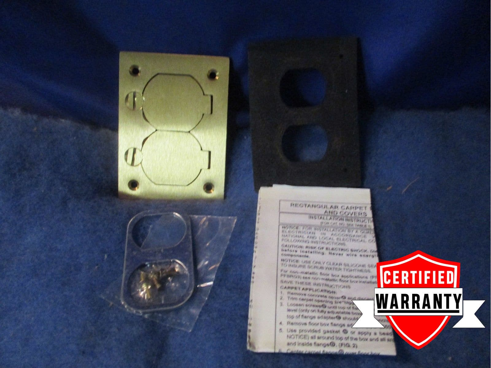 HUBBELL WIRING DEVICE-KELLEMS S3825 Cover,Floor Box