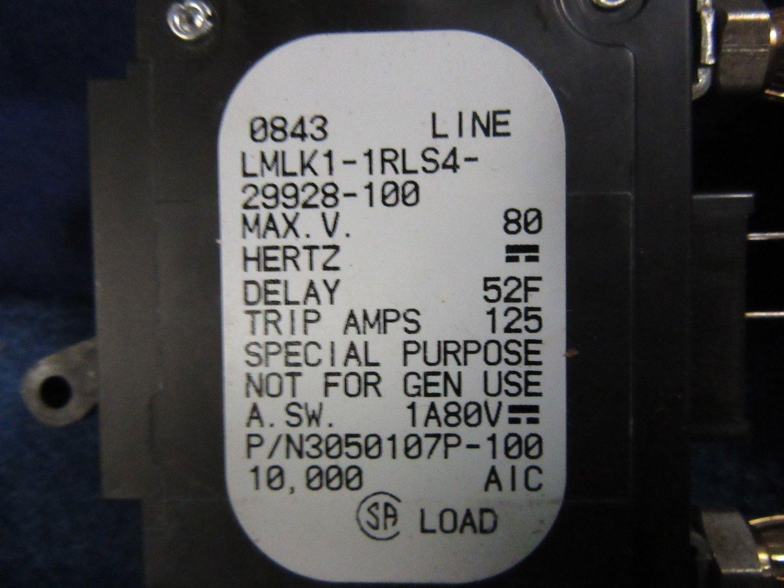 (LOT OF 2) NEW AIRPAX 100 AMP CIRCUIT BREAKER LMLK1-1RLS4-29928-100 90 DAY  WARR