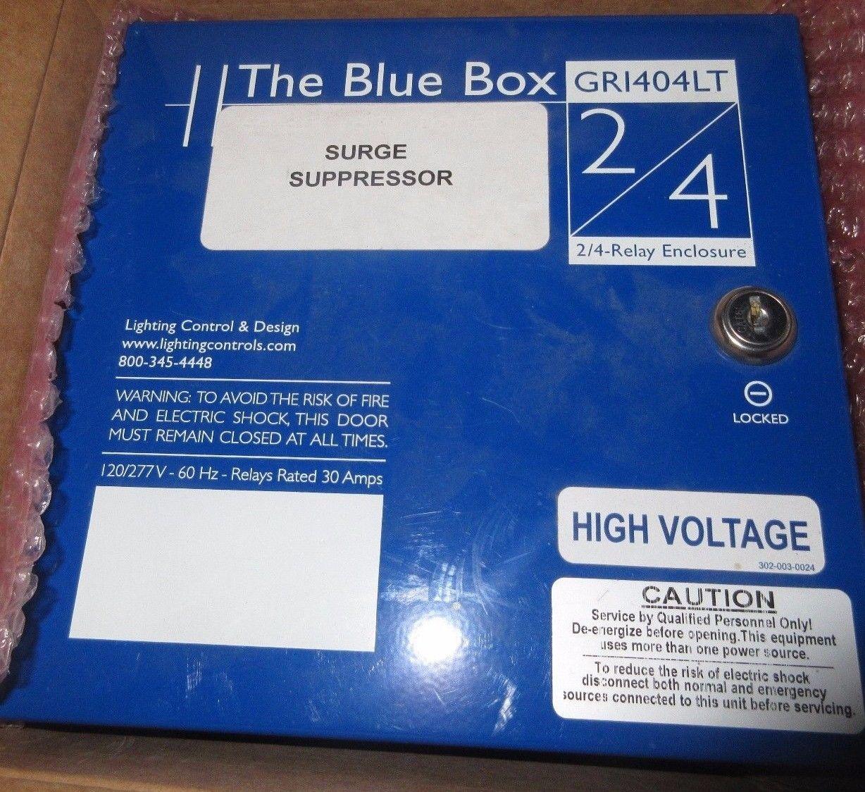Nib The Blue Box Gr1404lt 2 4 Relay Enclosure Surge Suppressor 1 Year Warranty