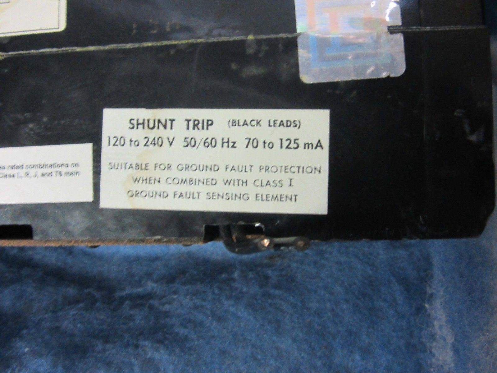 Square D 125 AMP Circuit Breaker Cat# KAL361251021 With Shunt Trip