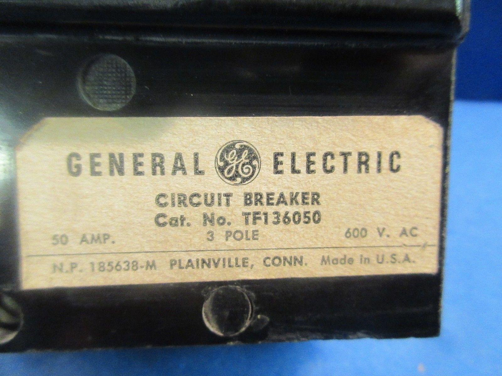 General Electric GE TF136050 50A 50 AMP CIRCUIT BREAKER