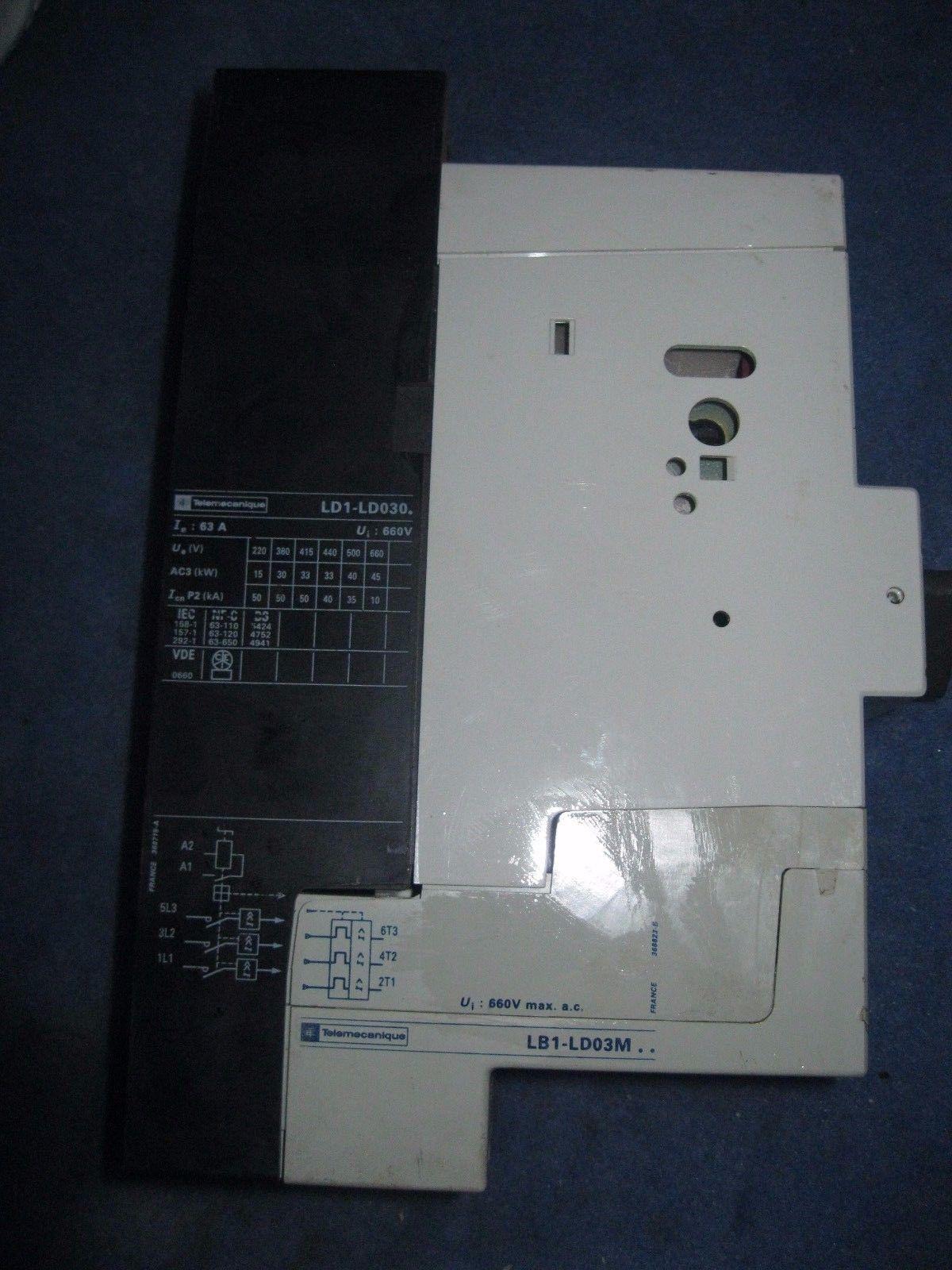 la1-lc010 motor de arranque lb1-ld03m Telemecanique integral 63